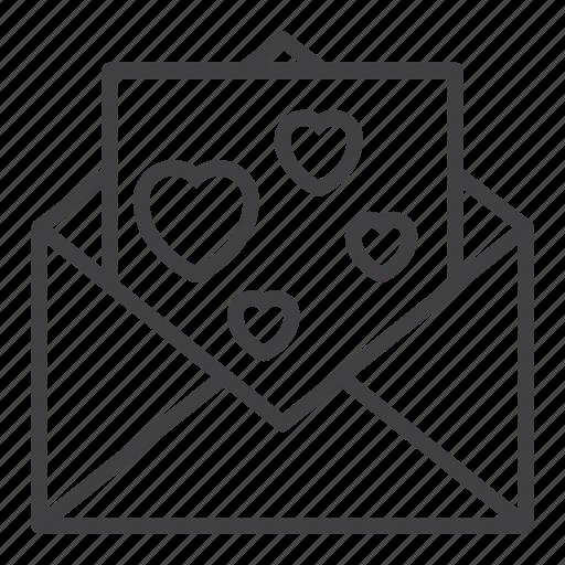 Envelope, hearts, letter, love, message icon - Download on Iconfinder