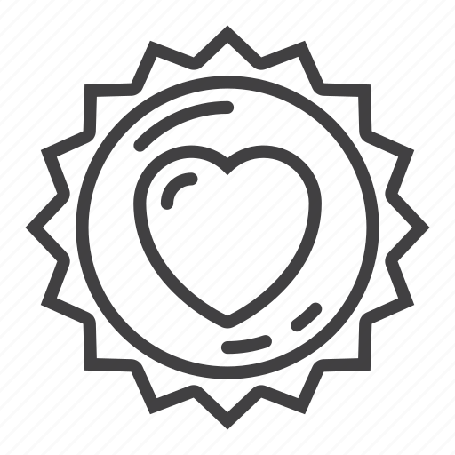 heart, label, love, sticker icon