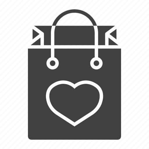 bag, heart, holiday, love, romantic, shopping, valentine icon