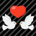 dove, heart, holiday, love, romantic, valentine, wedding icon