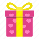 gift, heart, holiday, love, present, romantic, valentine icon