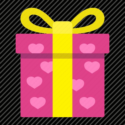 gift, heart, holiday, love, present, romantic, valentine icon