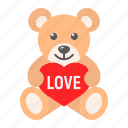 bear, heart, holiday, love, romantic, teddy, valentine icon