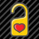 disturb, do, door, hanger, love, not, valentine icon