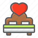 bed, heart, holiday, love, romantic, sex, valentine icon