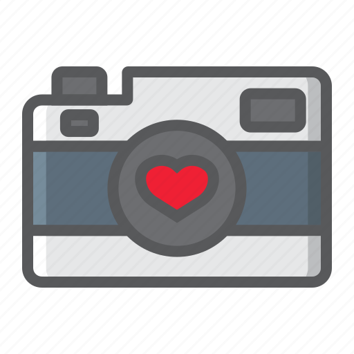 camera, heart, holiday, love, photography, romantic, valentine icon