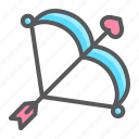 arrow, bow, cupid, holiday, love, romantic, valentine icon