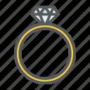 diamond, holiday, jewel, love, ring, romantic, valentine icon