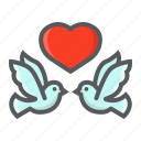 dove, heart, holiday, love, romantic, valentine, wedding icon