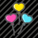 balloon, heart, holiday, love, romantic, shaped, valentine icon