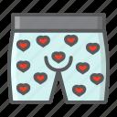 briefs, holiday, love, men, romantic, underwear, valentine icon