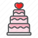 cake, holiday, love, romantic, stacked, valentine, wedding icon