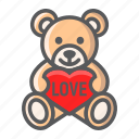 bear, heart, holiday, love, romantic, teddy, valentine icon