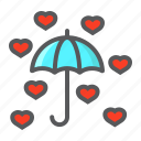 happy, heart, holiday, love, romantic, umbrella, valentine icon