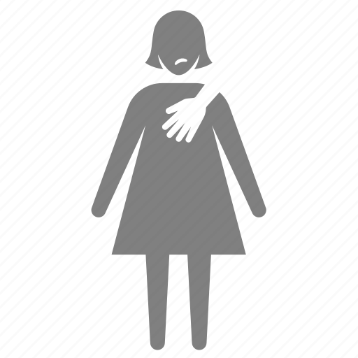 assault, harassment, inappropriate, molest, sexual, threaten, victim icon