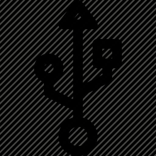 computer, data, device, multi, usb icon