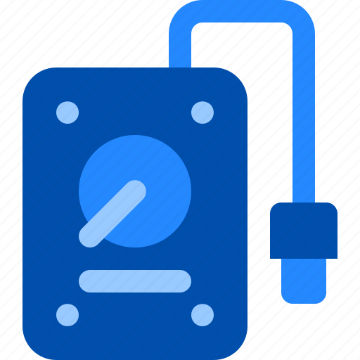 computer, data, drive, external, hard icon