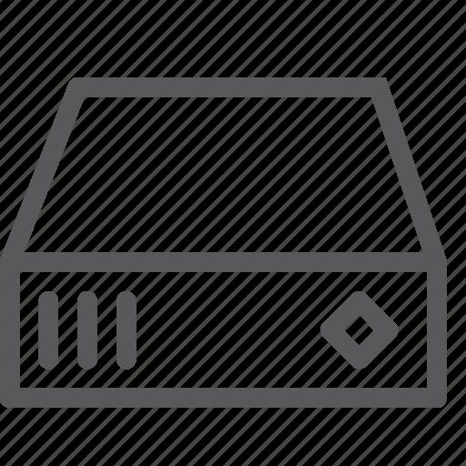 computers, diskette, drive, hard, harddrive, memory, storage icon