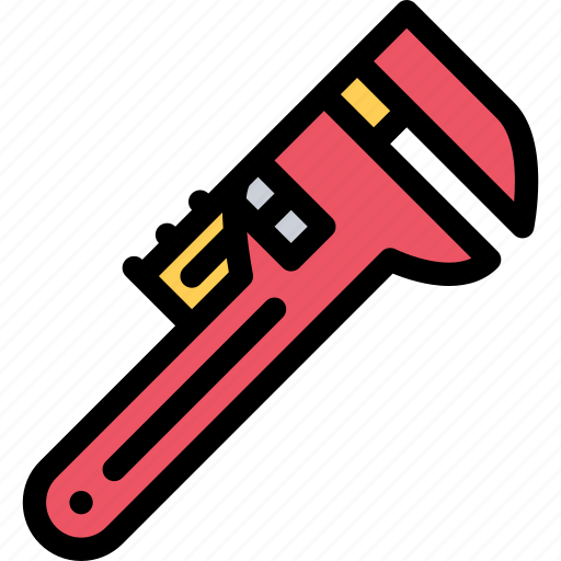 adjustable, plumber, profession, service, work, wrench icon
