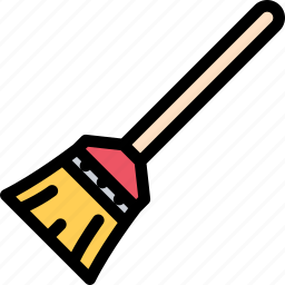 broom, cleaning, maid, profession, service, work icon