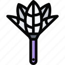 brush, cleaning, dust, maid, profession, service, work icon