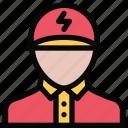 electrician, profession, service, work icon