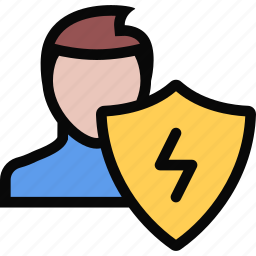 electrician, electricity, profession, protection, service, work icon