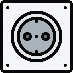electrician, power, profession, service, socket, work icon