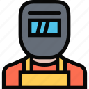 profession, service, welder, work icon