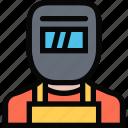 profession, service, welder, work icon