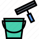 cleaning, maid, profession, service, window, work icon