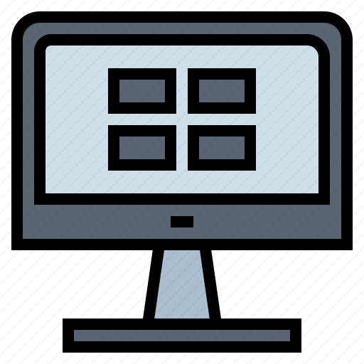 computer, hardware, screen, technology icon