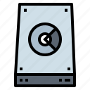 computer, disk, hard, hardware, technology icon