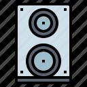 multimedia, option, sound, speaker, volume icon