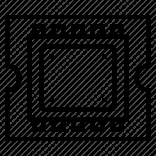 chip, computer, cpu, hardware icon