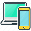 devices, gadgets, laptop, mobile, smartphone icon