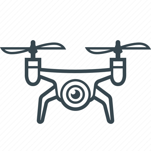 airdrone, device, drone, drone robot, technology icon