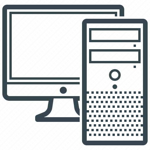 computer, device, hardware, monitor, pc icon