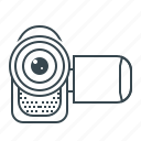 camcorder, film, movie, record, video icon
