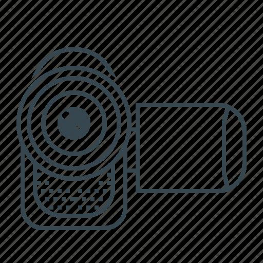 camcorder, film, movie, record, video icon