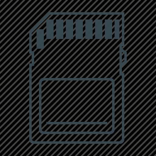 card, memory, memory card, sd icon