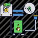 box, case, cd, computer, hardware, old, reader icon