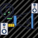 audio, loudspeaker, megaphone, sound, speakers, system icon