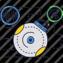 alarm, device, gyro, hardware, ring icon