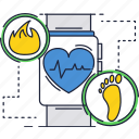 fitness, gadget, health, heartrate, tracker, watch, werable icon