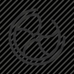 circle, cool, cooler, fan, fan icon, fan line, spin icon