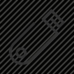 drive, flash, memory, portable, usb, usb flash, usb line icon icon