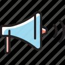 advertising, loudspeaker, marketing, megaphone icon