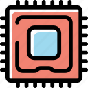 data, memory, processor, technology icon