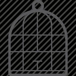 bird, cage icon